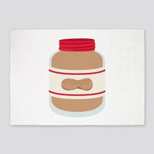 Peanut Butter Jar 5'x7'Area Rug