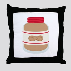 Peanut Butter Jar Throw Pillow
