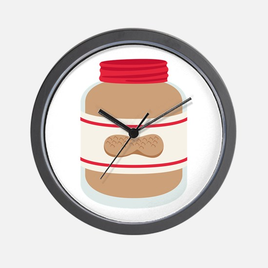 Peanut Butter Jar Wall Clock