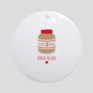 Peanut Butter Love Ornament (Round)