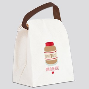 Peanut Butter Love Canvas Lunch Bag