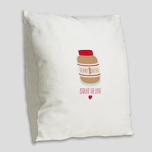 Peanut Butter Love Burlap Throw Pillow