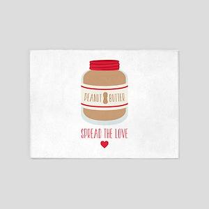 Peanut Butter Love 5'x7'Area Rug