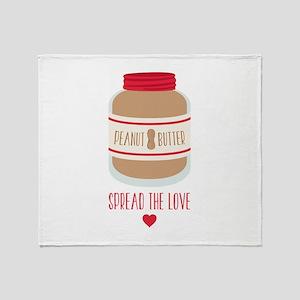 Peanut Butter Love Throw Blanket