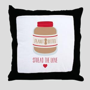 Peanut Butter Love Throw Pillow