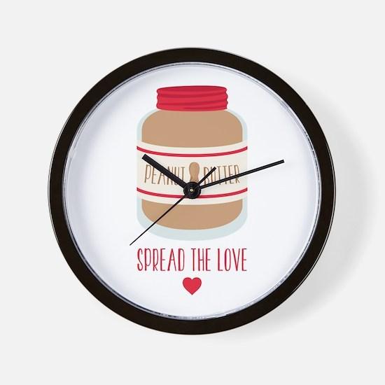 Peanut Butter Love Wall Clock