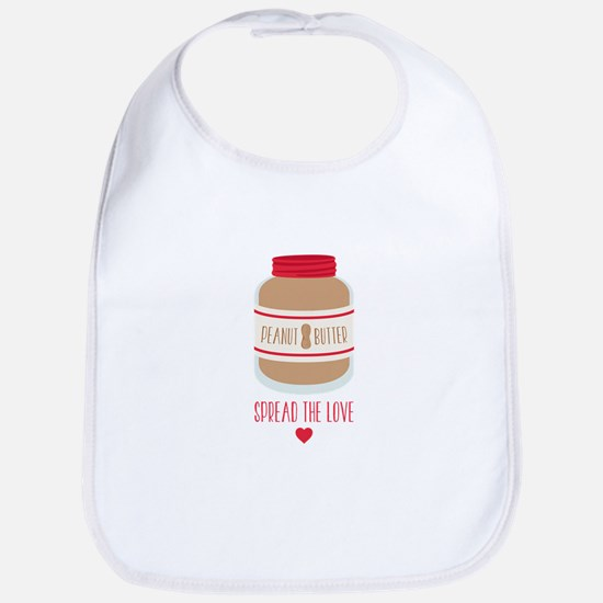 Peanut Butter Love Bib