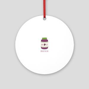 Spread The Love Ornament (Round)