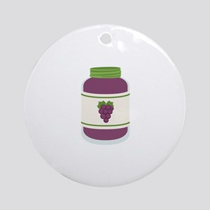 Grape Jelly Jar Ornament (Round)