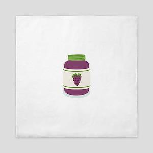 Grape Jelly Jar Queen Duvet