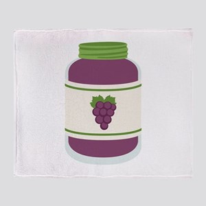 Grape Jelly Jar Throw Blanket