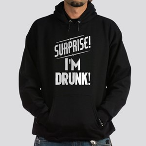 Surprise I'm Shitfaced Hoodie (dark)