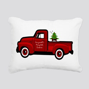 Red Christmas Truck Rectangular Canvas Pillow