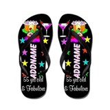 55th birthday Flip Flops