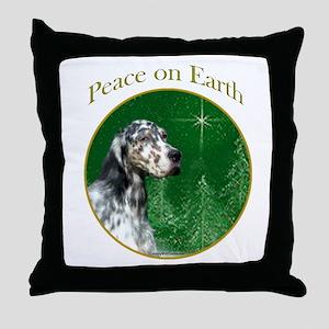 English Setter Peace Throw Pillow