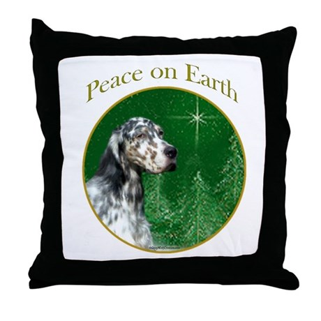 English Setter Peace Throw Pillow