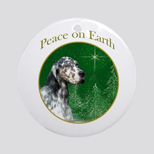 English Setter Peace Ornament (Round)