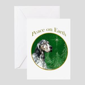English Setter Peace Greeting Card