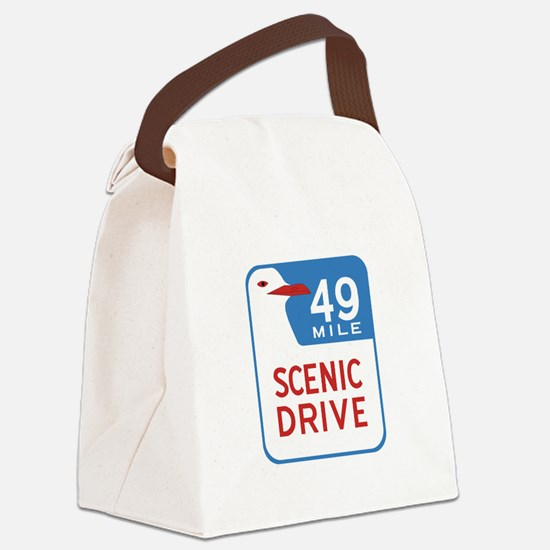 49-Mile Scenic Drive, San Francis Canvas Lunch Bag