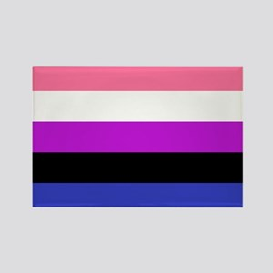 Genderfluid Pride Flag Rectangle Magnet