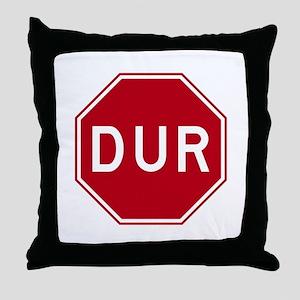Stop Sign, Turkey Throw Pillow