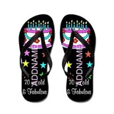 70th birthday Flip Flops