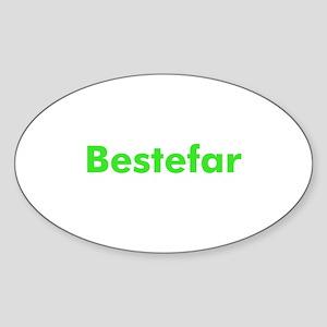 Bestefar Oval Sticker