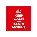 "Morris Dancing Square Sticker 3"" X 3"""