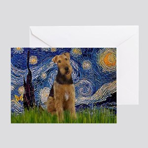 Starry - Airedale #1 Greeting Card