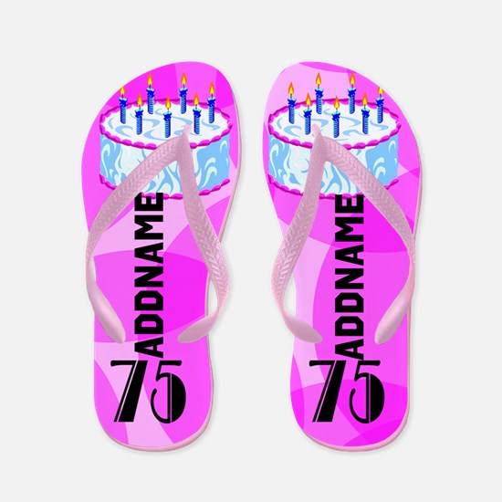 Stylish 75th Flip Flops