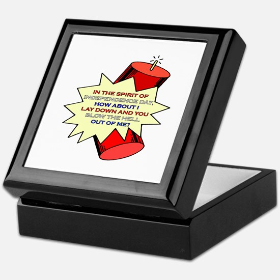4th of July - Blow The Hell Out Of Me Keepsake Box