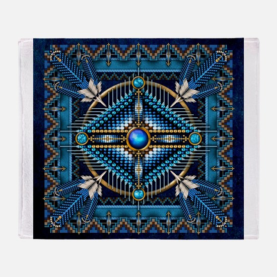Native American Style Tapestry 3 Throw Blanket