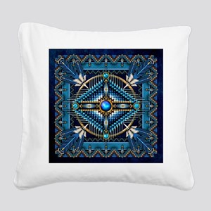 Native American Style Tapestr Square Canvas Pillow