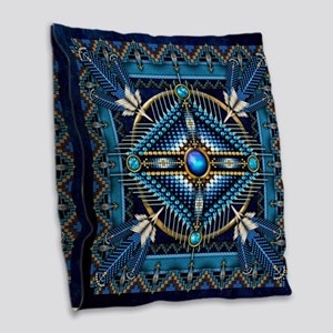 Native American Style Tapestry Burlap Throw Pillow