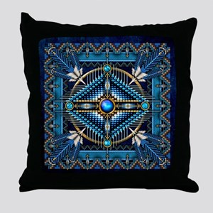 Native American Style Tapestry 3 Throw Pillow