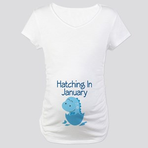Hatching In January boy Maternity T-Shirt