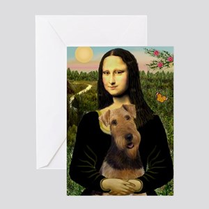 Mona Lisa - Airedale 1 Greeting Card