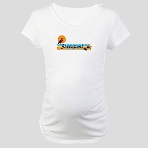 Greenport - Long Island. Maternity T-Shirt