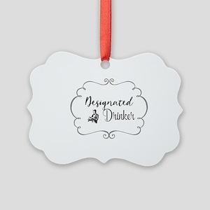 Designated Drinker Picture Ornament