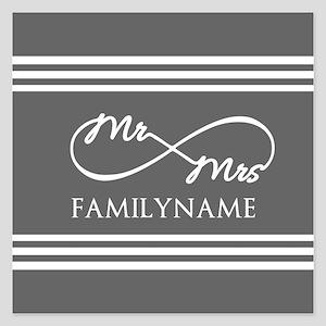 Mr. Mrs. Infinity Gray Str 5.25 x 5.25 Flat Cards