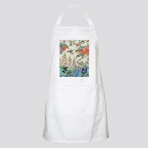 hummingbirds and flowers Apron