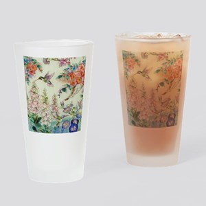 hummingbirds and flowers Drinking Glass