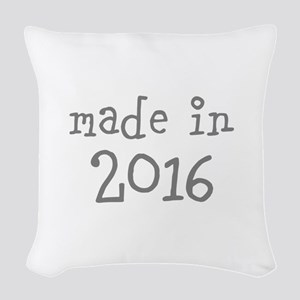 Made in 2016 Woven Throw Pillow