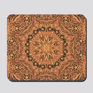 tooled leather western country  Mousepad