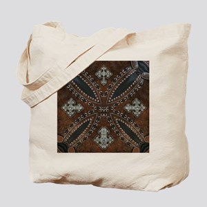 tooled leather western country  Tote Bag