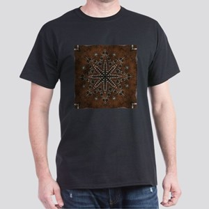 brown leather western country T-Shirt