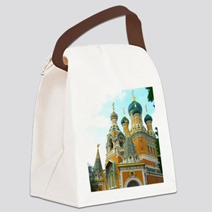 Orthodox Russian Cathedral Church Canvas Lunch Bag