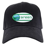 Green Energy Black Cap with Patch