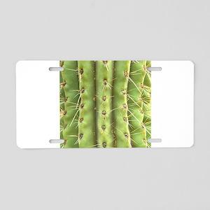 Spiney Cactus Aluminum License Plate