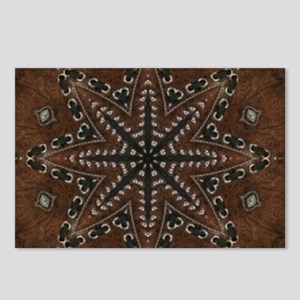 brown leather western cou Postcards (Package of 8)